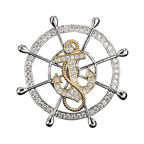 Circlefly Luxus mit Zirkon rotary Ruder Dame Anzug Mantel Accessoires Brosche Geschenk