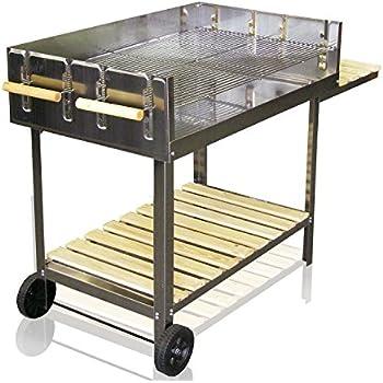 jom edelstahl barbecue holzkohle grill grillwagen bbq 136x60x93 xxl garten. Black Bedroom Furniture Sets. Home Design Ideas