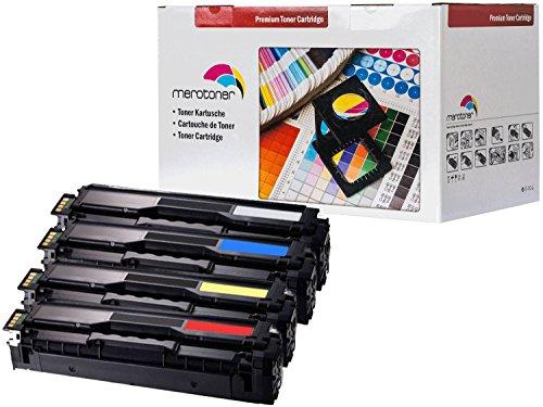 Preisvergleich Produktbild Merotoner® 4x XXL Toner SET ersetzt Samsung CLT-K504S/ELS, CLT-P504C, CLT-K504S, CLT-C504S, CLT-M504S, CLT-Y504S, CLT-C504S/ELS, CLT-M504S/ELS, CLT-Y504S/ELS - Samsung CLX4195 FN / CLX4195 FW / CLX4195 N Samsung CLP415 N CLP415 NW CLP 415 CLP410 N CLP410 NW CLP 410 kompatibel (2.500 seiten Schwarz je farbe 1800 seiten C/Y/M)