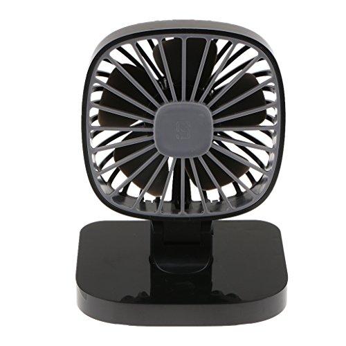 Preisvergleich Produktbild IPOTCH USB Mini Ventilator Fan Leise mit an/aus-Schalter, 360 Grad Drehung, 3 Einstellbare Geschwindigkeiten für Indoor und Outdoor Aktivitäten. - Schwarz