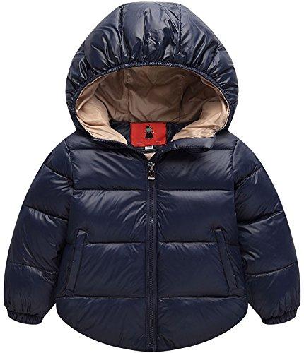 Cappotto per bimbi giacca giubbotti giacche piumino manica lunga blu marino 100