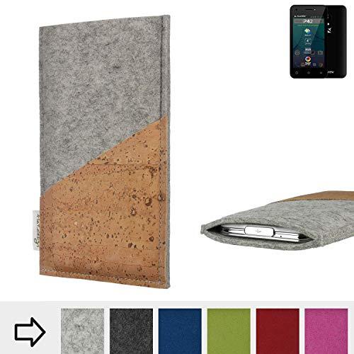 flat.design Handy Hülle Evora für Allview P42 Schutz Tasche Kartenfach Kork passgenau handgefertigt fair