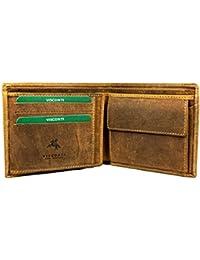 "Visconti Bifold Cuir Huilé Homme Portefeuille ""Hunter"", Marron Leather Wallet(701):"