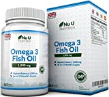 Omega 3 Fish Oil 1000 mg - Huile de poisson/oméga-3 - Cure d'1 An/365...