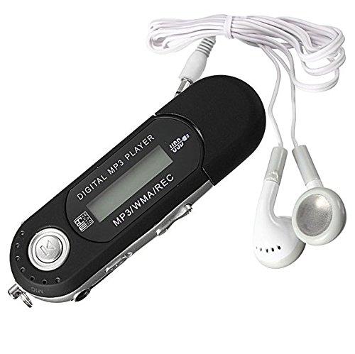 8GB Mini MP3 WMA Player LCD Screen + FM-Radio USB Speicher Memory Stick Schwarz
