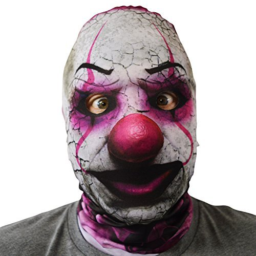 gruselig Halloween Gesichtsmaske Killer Süßigkeiten Clown Exorzist Kostüm -