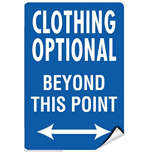 Label Decal Sticker Clothing Optional Beyond This Point Activity Sign Durability Self Adhesive Decal Uv Protected & Weatherproof - Optional Decals
