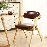 Sillón plegable de madera maciza Simple y moderno Sillón de comedor de tela casero Silla de oficina simple Sillón de conferencia sillas plegables de interior (Color : C)