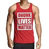 Singlete Drunk Lives Matter Funny Saint Patricks Vêtements de Jour de St Patty (X-Large Rouge Multicolore)