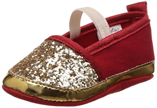 Barbie Baby Girl's Gold and Red Booties - (3-6 months)