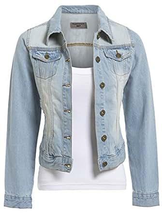 ss7 damen jeansjacke hellblau gr en 18 bis 24 bekleidung. Black Bedroom Furniture Sets. Home Design Ideas