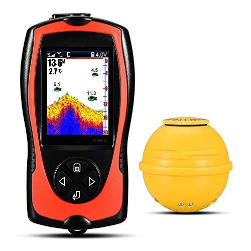 LFTS Buscador de Peces inalámbrico portátil con lámpara de Pesca para los Pescadores costeros Escaneo de Alta definición Posición del pez Detección de Sonar Pesca en el Hielo Pesca en el Lago Pesca