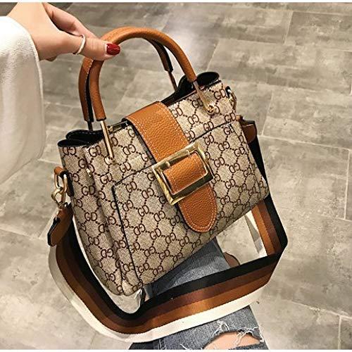 LFGCL Bags womenHandbag Fashion Trend Printing Schultertasche Messenger Bag, Brown