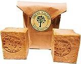 Gereifte original Aleppo Seife ® 2 x 180 g, ca. 80 % Olivenöl & % 20 Lorbeeröl, über 6 Jahre gereift, PH Wert 8, Detox Eigenschaften, veganes Naturprodukt in Handarbeit hergestellt nach jahrtausendem altem Traditionsrezept