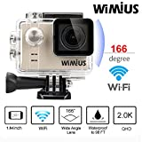 WIMIUS A1 Action Kamera WIFI Full HD Actioncam Ambarella A7LS75 60M Wasserdicht 16MP