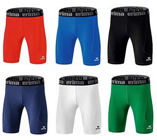 Erima Bristol Tight Shorts Funktionsunterwäsche Schwarz Grün Blau Weiss Rot (Weiss, XS)