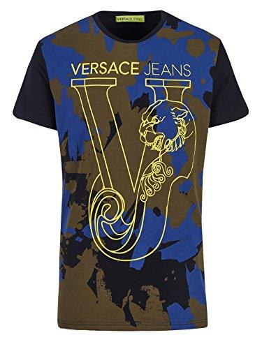 Versace Jeans T-Shirt Jersey Cotton Luna - L(DE) / L(IT) / L(EU) (Designer-jeans Italienische)