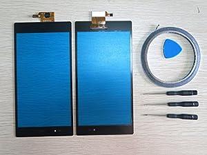 Neu Touchscreen Digitizer Display Glas Schwarz Ersatz For Sony Xperia Z Ultra XL39H C6833+Werkzeug & Klebeband