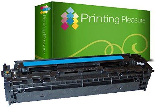 Printing Pleasure Toner kompatibel für HP Laserjet Pro 200 Color M251n M251nw MFP M276n M276nw CM1312 CM1312nfi MFP CP1215 CP1515 CP1515n CM1415fn CM1415fnw CP1525n CP1525nw - Cyan, hohe Kapazität (Tonerkassette 131 Hp)