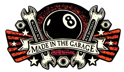 King Kerosin < Made in The Garage > AUTOCOLLANT / STICKER