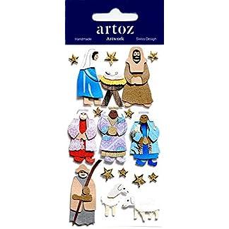 Adornos para artesanía de Navidad figuras de Belén–tarjeta de Navidad Scrapbooking pegatinas