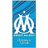 Om Flag Drap de Plage, Coton, Bleu, 150x75 cm