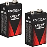 2x Kraftmax Lithium 9V Block Hochleistungs- Batterien...