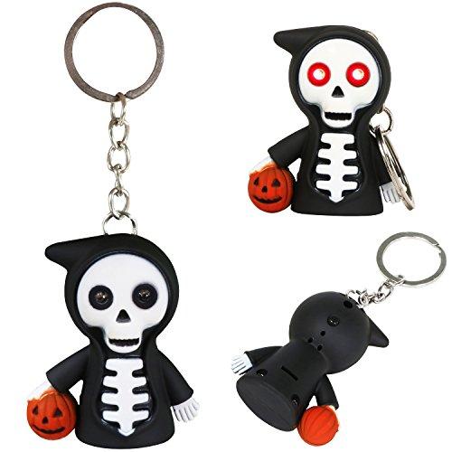 Trixes Schwarzer, lachender und knatternder Halloween - Sensenmann - Schlüsselanhänger (Scary Halloween Lachen)