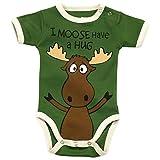LazyOne Boys I Moose Have a Hug Babygrow Vest 6 Months