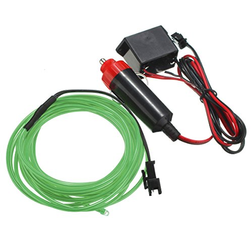 Wooya 300Cm EL Neon Light Effect Light Cable Cord Wire 12V Wechselrichter-Grün