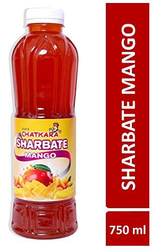 GSA's Chatkara® Mango (750ml) Syrup Squash Sharbat for Drink/Milkshake/Falooda/Ice-Cream/Lassi/Liquids/Juice/Soda/Cocktails/Milk Powder. Pack of 1 Bottle.