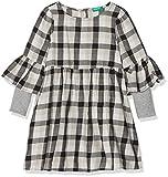 United Colors of Benetton Mädchen Kleid Dress, Schwarz(PINK - CHECK), 160 (Herstellergröße: 2XL)