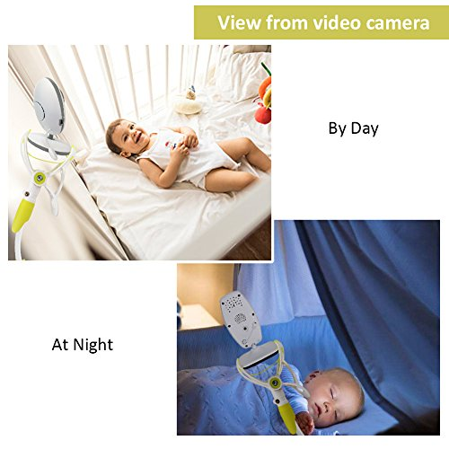 Universal Baby Camera Mount, YIKANWEN Baby Monitor Holder and Shelf Compatible with Most Baby Monitors, Flexible Camera Stand for Nursery -Green