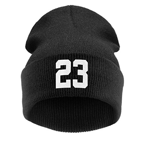 Fami Unisex inverno caldo Cappello di lana Cap Moda Hip-hop Beanie Cappelli (C)