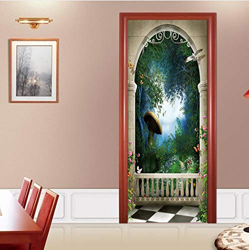 Bögen Selbstklebende DIY Wandbild Tür Tapete Aufkleber Für Dekoration Vinyl Abnehmbare 3D Aufkleber ()