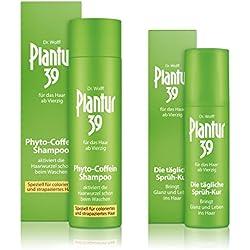 Plantur 39 Phyto-Coffein-Shampoo 250 ml + Sprüh-Kur 125 ml - Speziell für coloriertes und strapaziertes Haar