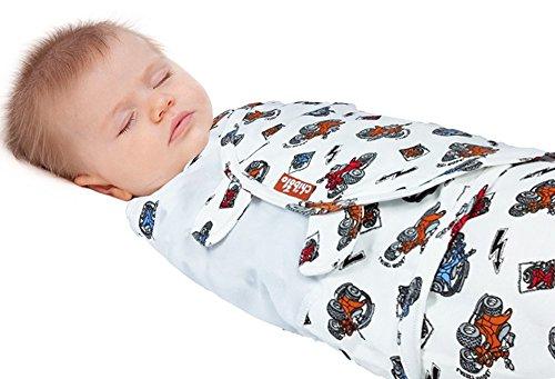 Pucksack - Baby Wickel - Sack - Einstellbar für 0-4 Monate – Chibolo (Bear)
