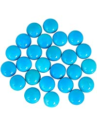 AAA Quality Natural Sleeping Beauty Tourquise 12 mm Round Cabochon, sleeping beauty hue resembling a deeply saturated robins egg blue, wholesale price, prepared exclusively by Ratnagarbha.