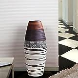 wysm Boden große Vase Keramik 20 * 60cm braun einfaches modernes Wohnzimmer Europäische kreative Heim Dekoration Kunst Dekoration
