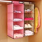 Zollyss 4 Pockets Wardrobe Door Wall Mounted Clothing Underware Hanging Storage Bag