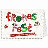 Knopfkarte für Weihnachtsgrüße - X-mas - Frohes Fest - 4