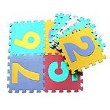 Vovotrade 10Pcs Espuma de puzzle de dibujos animados de bebé