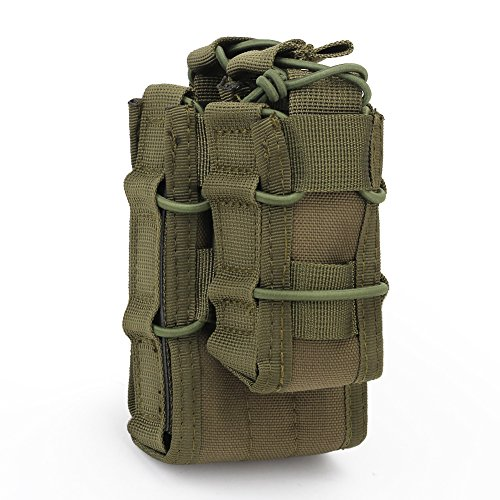 SGOYH Taktisch Airsoft Single Open Molle Magazinhalter Weste Zubehör Tasche M4 M16 Pouch (OD) -