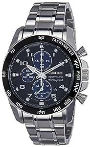 Seiko - SNAE63P1 - Montre Homme - Quartz Chronographe - Chronomètre/Alarme/Aiguilles - Bracelet Acier Inoxydable Argent