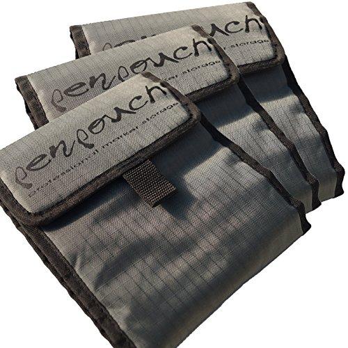 3X penpouch Marker Borsa Astuccio Custodia–Professionale Portacolori per Copic, tria, Edding, Beleduc u.a. Design Pennarelli, Tessuto