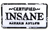 FamilyFirst Tradings Certified Insane Arkham Asylum Iron On Patch- Joker Badge Applique Sew