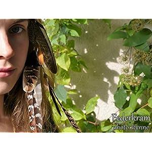 braune Fasan 12 Feder Haar Extension, Haarschmuck Clips Haarspange Vogel Federschmuck Federkram handgemacht