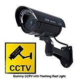 SAVFY Fausse caméra de surveillance CCTV factice d'extérieur/interieur Dummy Camera