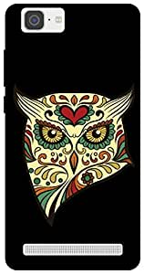 The Racoon Grip angry owl hard plastic printed back case / cover for Vivo X5 Max
