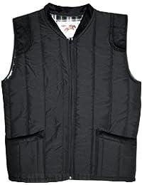 Mens Bodywarmers With Inside Lining Windproof Padded Warm Winterwear (Medium, Black)
